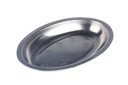 Taca metalowa owalna głęboka 21 x 14 x 2  cm