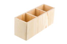 Pudełko drewniane 3-dzielne 24 x 10 x 8 cm