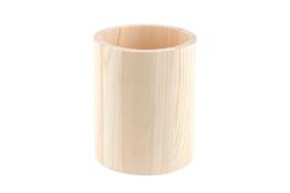 Pojemnik drewniany okrągły 8 x 10 cm