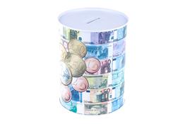 Puszka skarbonka banknot 15.5 x 11.8 cm