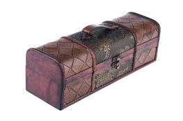 Szkatułka, kuferek drewniany 33.8 x 12 x 11.5 cm