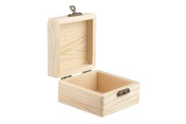 Skrzynka drewniania decoupage 8 x 8 x 4.3