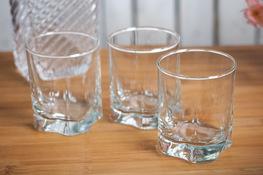 Komplet 3 szklanek do whisky Shine 260 ml