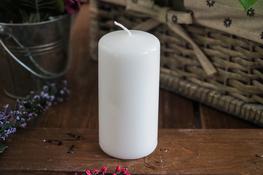 ADPAL Świeca klasyczna klubowa 12 cm lakier biała