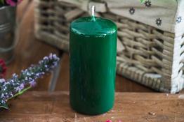 ADPAL Świeca klasyczna klubowa 12 cm lakier choinkowa zieleń