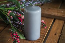 ADPAL Świeca klasyczna klubowa 12 cm lakier stalowe magnolie