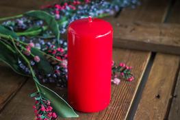 ADPAL Świeca klasyczna klubowa 12 cm lakier czerwona