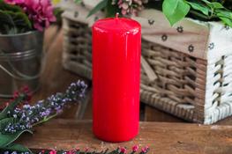 ADPAL Świeca klasyczna klubowa 15 cm lakier czerwona