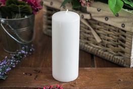 ADPAL Świeca klasyczna klubowa 15 cm lakier biała