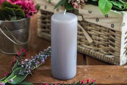 ADPAL Świeca klasyczna klubowa 15 cm lakier stalowe magnolie
