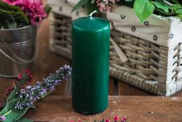 ADPAL Świeca klasyczna klubowa 15 cm lakier choinkowa zieleń