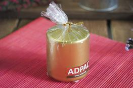 ADPAL Świeca klasyczna klubowa 7 cm metalik złota