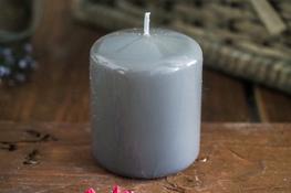 ADPAL Świeca klasyczna klubowa 7 cm lakier stalowe magnolie