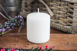 ADPAL Świeca klasyczna klubowa 7 cm lakierowana biała
