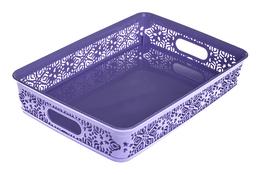 KATEX Violet Koszyk midi 36.5 x 25.5 x 6.8 cm - mix kolorów