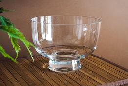 Świecznik szklany na stopce 14 cm