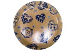 Vivenzi Taca z melaminy 40 cm BLUE HEART okrągła