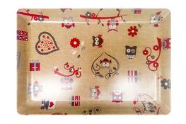 Vivenzi Taca z melaminy 45 x 31 cm SOWY prostokątna