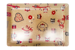 Vivenzi Taca z melaminy 50 x 37 cm SOWY prostokątna