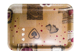 Vivenzi Taca z melaminy 38 x 27 cm SHABBY prostokątna