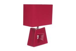 Lampka nocna elektryczna z prostokątnym kloszem czerwona