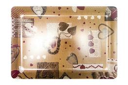 Vivenzi Taca z melaminy 50 x 37 cm SHABBY prostokątna