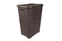 KATEX Rattan Kosz na pranie 60 L brązowy