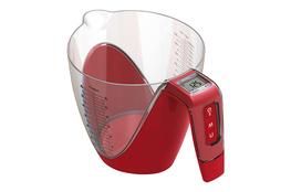 GIANNINI Waga z pojemnikiem SKALA 5 kg/ 1 L czerwona