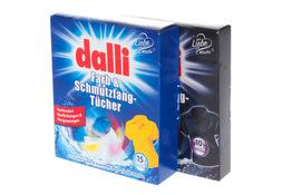 DALLI Chusteczki absorbujące barwniki i brud podczas prania 15 + 10 szt.