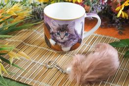 HANIPOL Kubek porcelanowy 420 ml Kotek+brylok