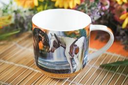 HANIPOL Kubek porcelanowy 450 ml konie