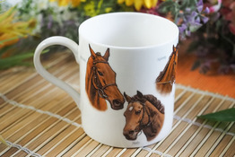 HANIPOL Kubek porcelanowy 250 ml Konie