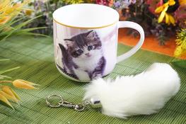 HANIPOL Kubek porcelanowy kotek 350 ml