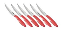 TESCOMA Nóż do steków PRESTO 12 cm, 6 szt. czerwony