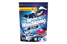 WASCHKONIG BLACK 3 in 1 Kapsułki do prania tkanin ciemnych 27 szt.