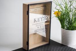 KOOPMAN Pudełko drewniane na klucze 30 x 20 x 5.5 cm