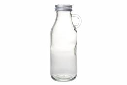 KOOPMAN Butelka szklana z uchem 500 ml z zakrętką