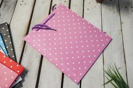 Torebka prezentowa 30 x 25.5 x 10 cm różowa