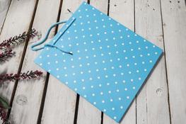 Torebka prezentowa 30 x 25.5 x 10 cm niebieska