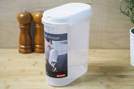 PLAST TEAM Pojemnik owalny 2.4 L biały