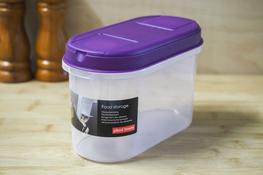 PLAST TEAM Pojemnik owalny 1.1 L fioletowy