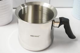 KINGHoff Garnek do mleka z gwizdkiem 1 L