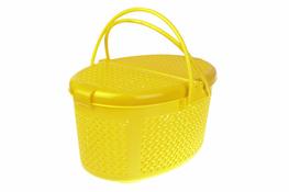 Koszyk piknikowy owalny żółty