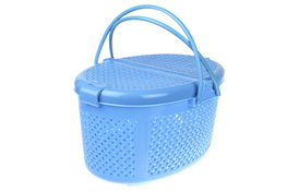 Koszyk piknikowy owalny niebieski