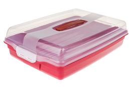 CURVER Pojemnik płaski na ciasto 43 x 29 x 11.5 czerwony