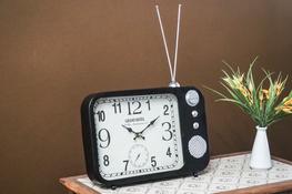 KOOPMAN Zegar stojący TV Retro - mix wzorów