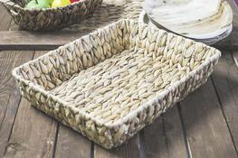 KOOPMAN Taca prostokątna, koszyk z trawy morskiej 39 x 30 cm