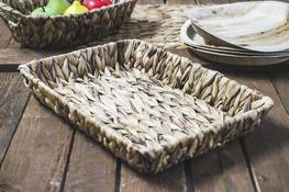 KOOPMAN Taca prostokątna, koszyk z trawy morskiej 36 x 26 cm