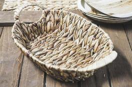 KOOPMAN Koszyk owalny z trawy morskiej 39 x 24 cm z uchwytami
