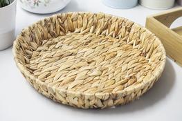 KOOPMAN Taca okrągła, koszyk z trawy morskiej 34 cm